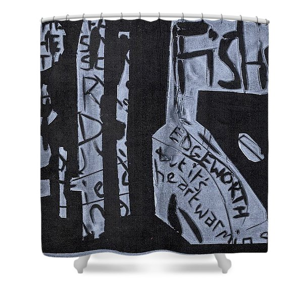 Fisher Covers White On Black Shower Curtain