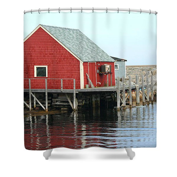Fishermans House On Peggys Cove Shower Curtain
