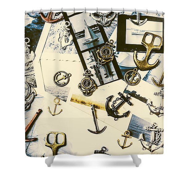 Fishermans Iconography  Shower Curtain