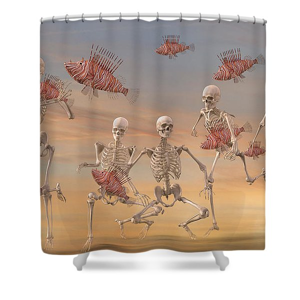 Fishermen Never Give Up By Betsy C Knapp Shower Curtain