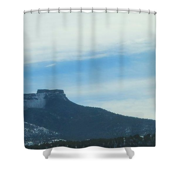 Fishers Peak Raton Mesa In Snow Shower Curtain