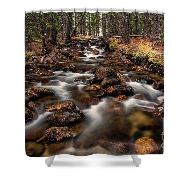 Fishhook Creek Waterscape Art By Kaylyn Franks Shower Curtain