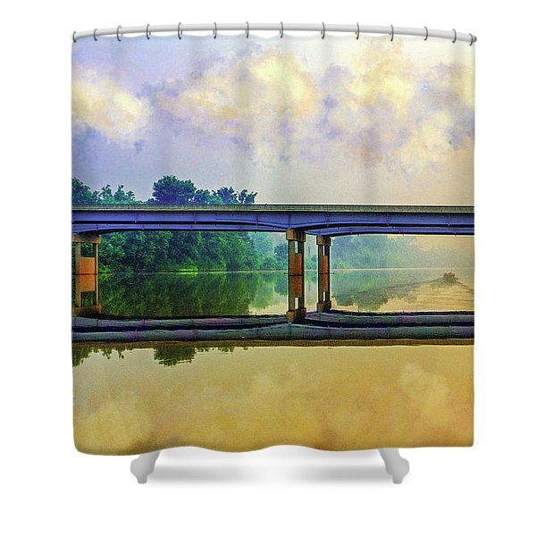 Fishin' For Angels Shower Curtain