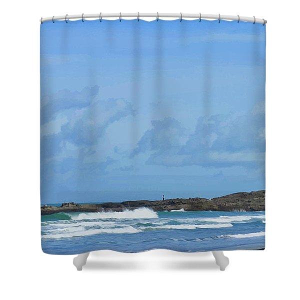 Fishing At Kare Kare Shower Curtain
