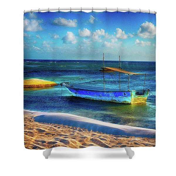 Fishing Boat At Rest Shower Curtain