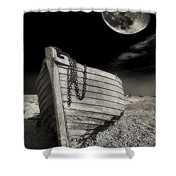 Fishing Boat Graveyard 3 Shower Curtain