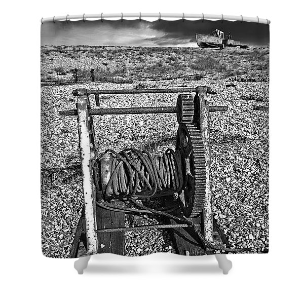 Fishing Boat Graveyard 8 Shower Curtain
