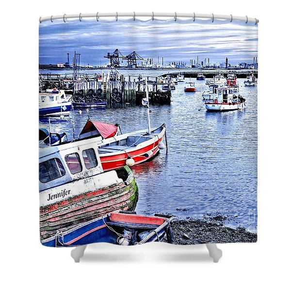 Fishing Boats At 'paddy's Hole' Shower Curtain