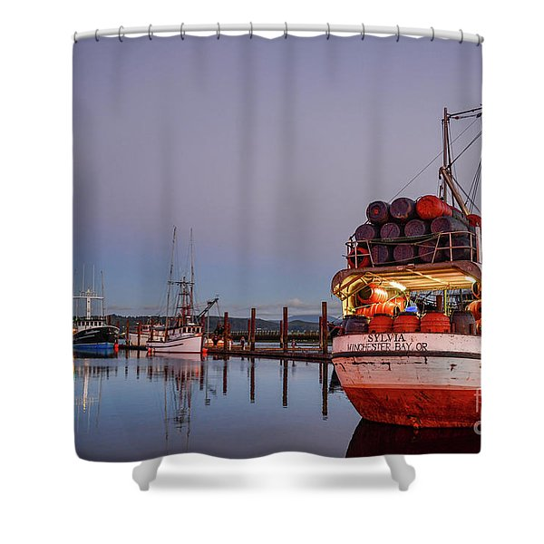 Fishing Boats Waking Up For The Day Shower Curtain