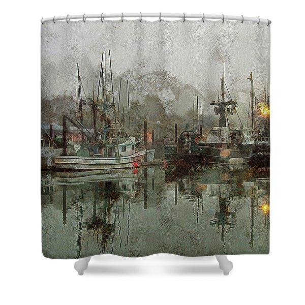 Fishing Fleet Dock Five Shower Curtain