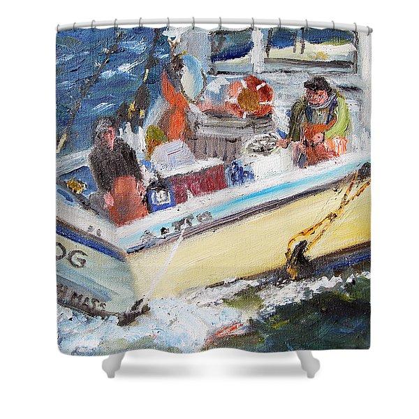 Fishing For Big Fin Tuna Shower Curtain