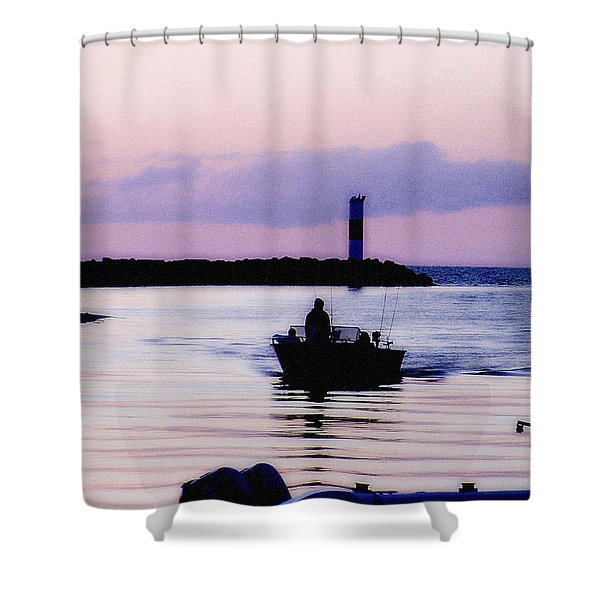 Fishing Lake Ontario  Lake Ontario  Shower Curtain