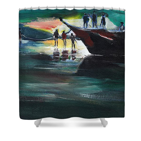 Fishing Line Shower Curtain