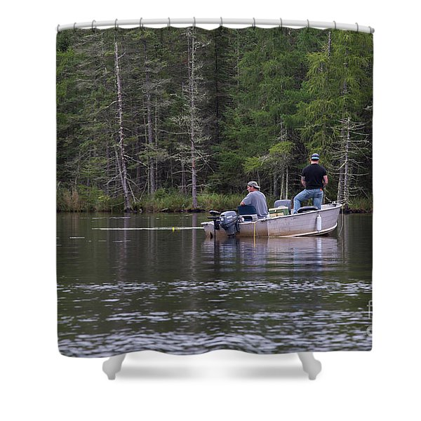 Fishing Little Bass Shower Curtain