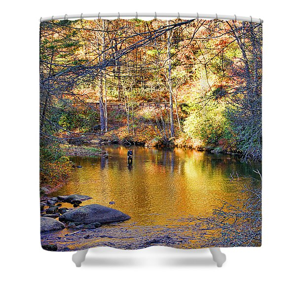 Fishing On The Cullasaja By H H Photography Of Florida Shower Curtain