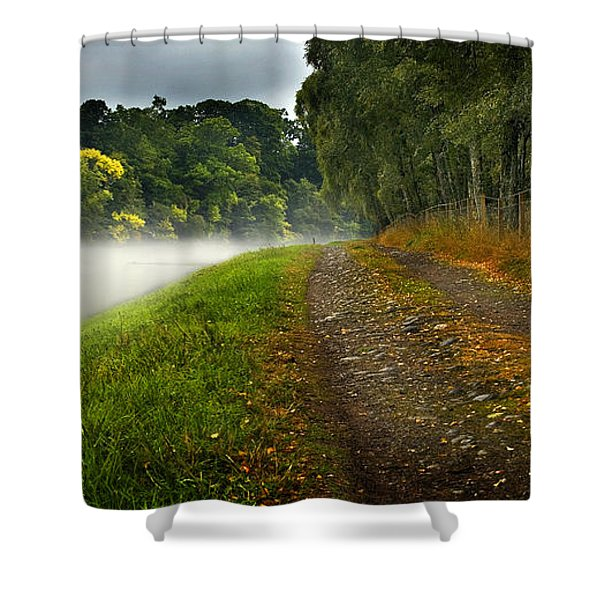 Fishing The River Beauly Shower Curtain