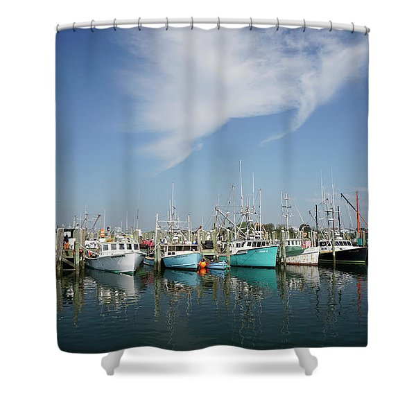 Fishing Vessels At Galilee Rhode Island Shower Curtain