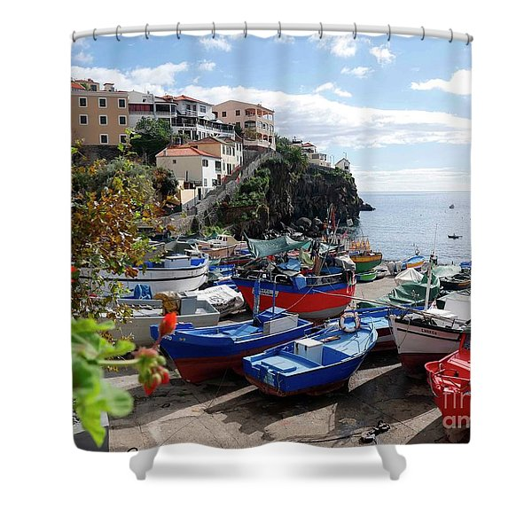 Fishing Village On The Island Of Madeira Shower Curtain