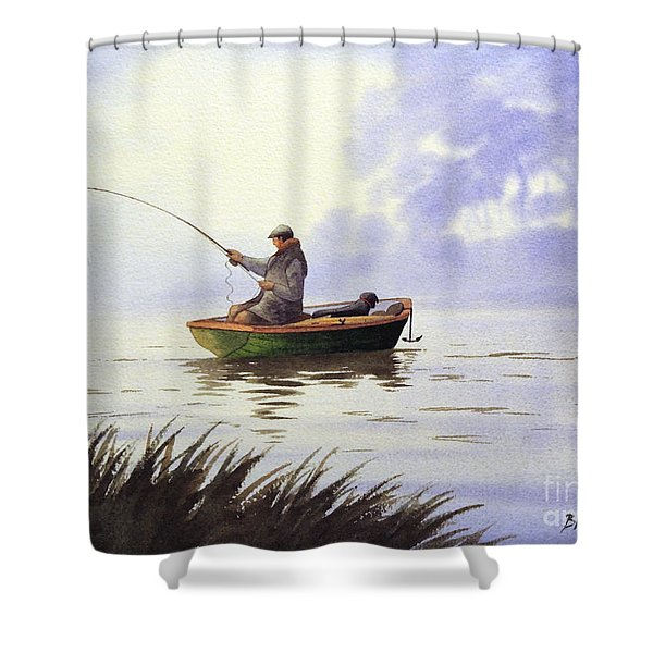 Fishing With A Loyal Friend Shower Curtain