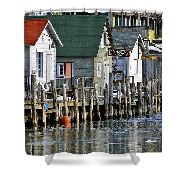 Fishtown In Leland Shower Curtain