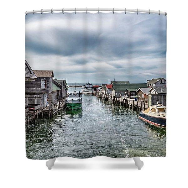 Fishtown Michigan In Leland Shower Curtain