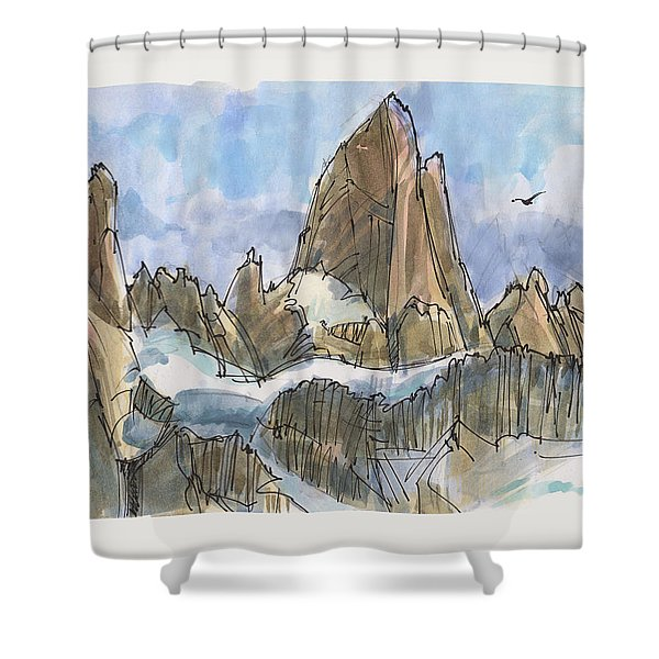 Fitz Roy, Patagonia Shower Curtain