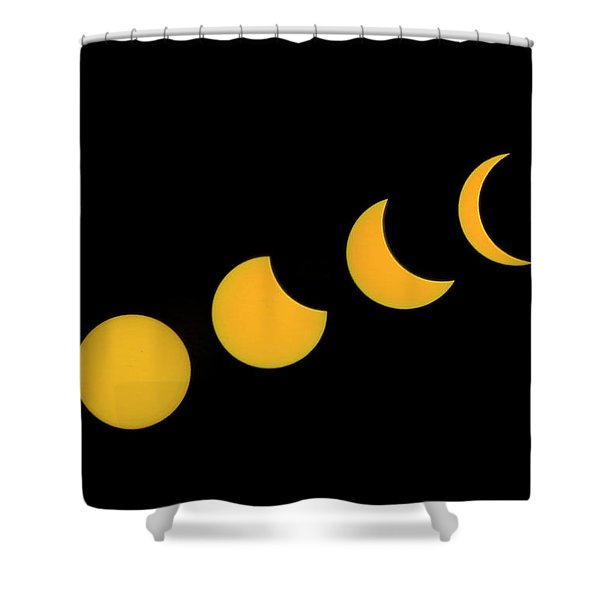 Five Phases Of The Eclipse Shower Curtain