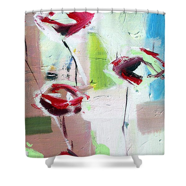 Five Roses Shower Curtain