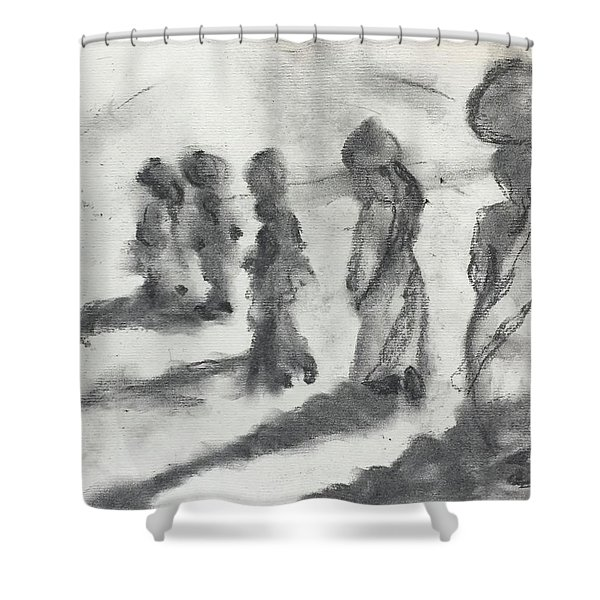 Five Women Immigrants Shower Curtain