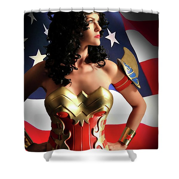 Flag And Fury Shower Curtain