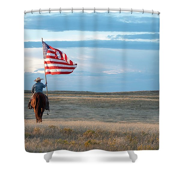 Flag Of Freedom Shower Curtain