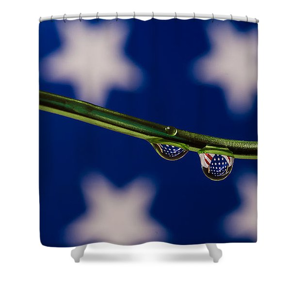 flag on a Wire Shower Curtain