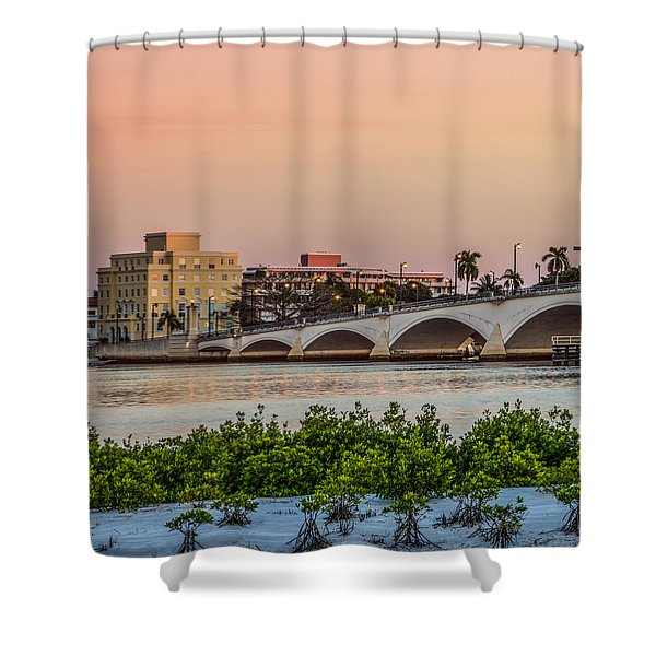 Flagler Bridge In The Evening I Shower Curtain