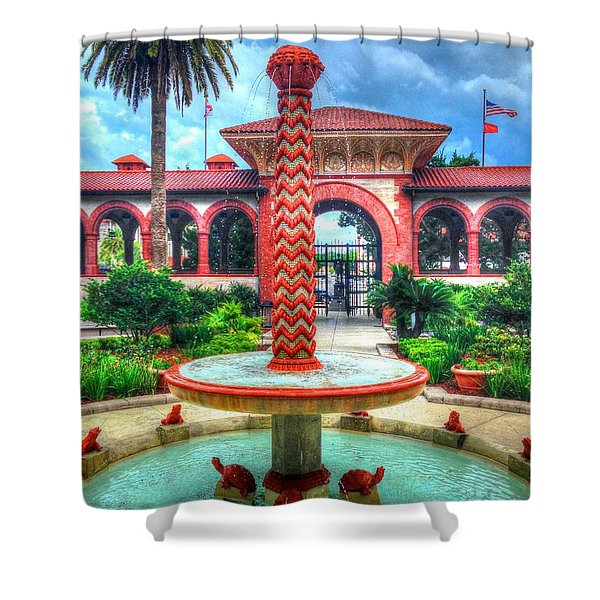 Flagler College Fountain Shower Curtain