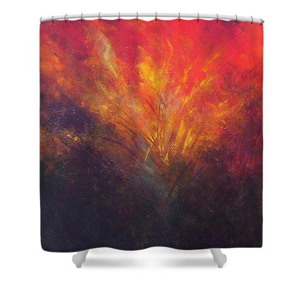 Flame Within Shower Curtain