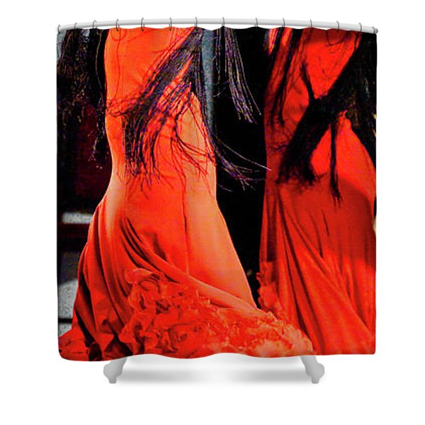 Shower Curtain featuring the photograph Flamenco 38 by Catherine Sobredo