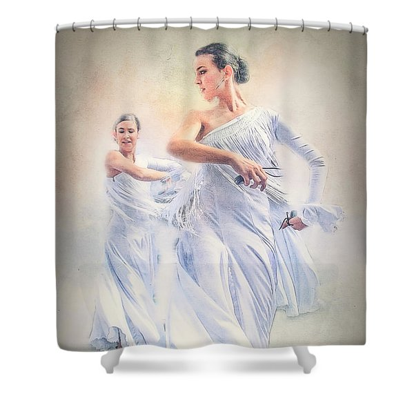 Flamenco In White Shower Curtain