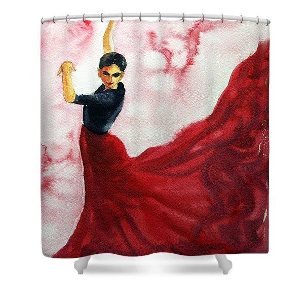 Flamenco Red Shower Curtain