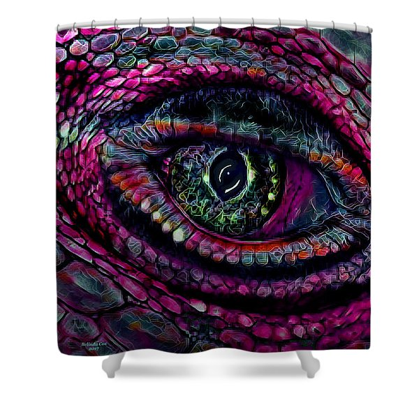 Flaming Dragons Eye Shower Curtain