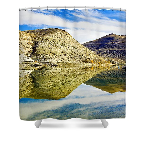 Flaming Gorge Water Reflections Shower Curtain