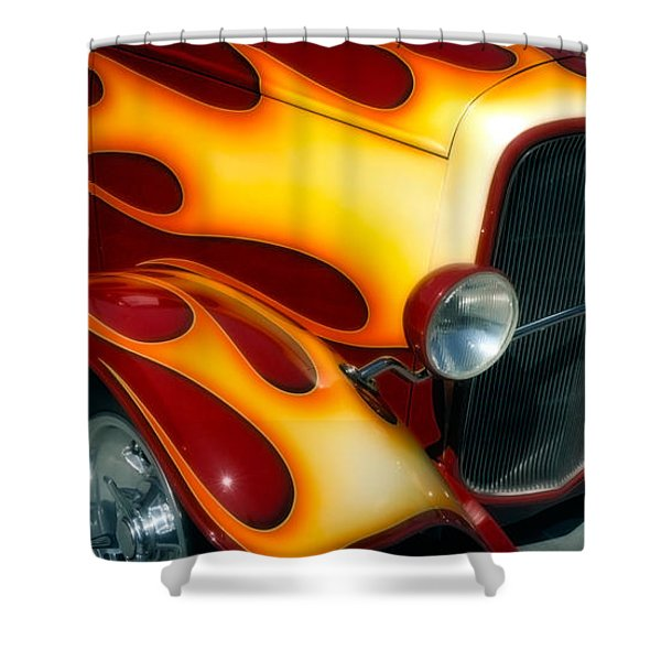 Flaming Hot Rod Shower Curtain