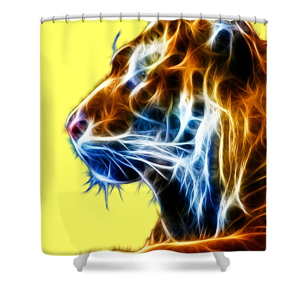 Flaming Tiger Shower Curtain