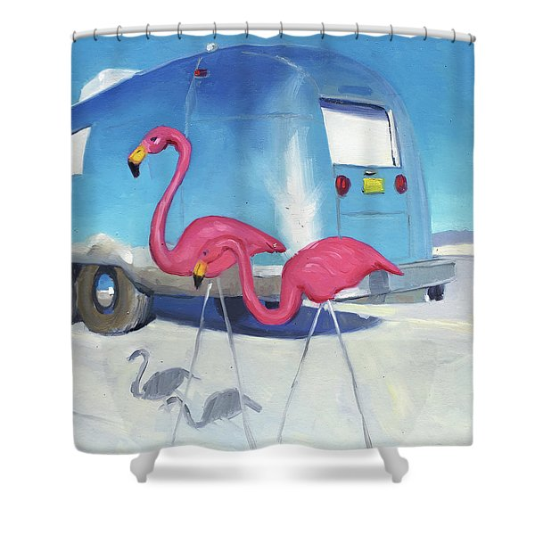 Flamingo Migration Shower Curtain