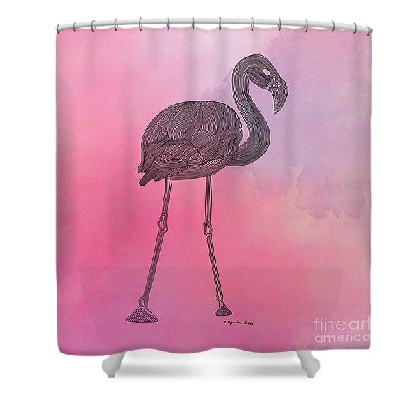 Flamingo5 Shower Curtain