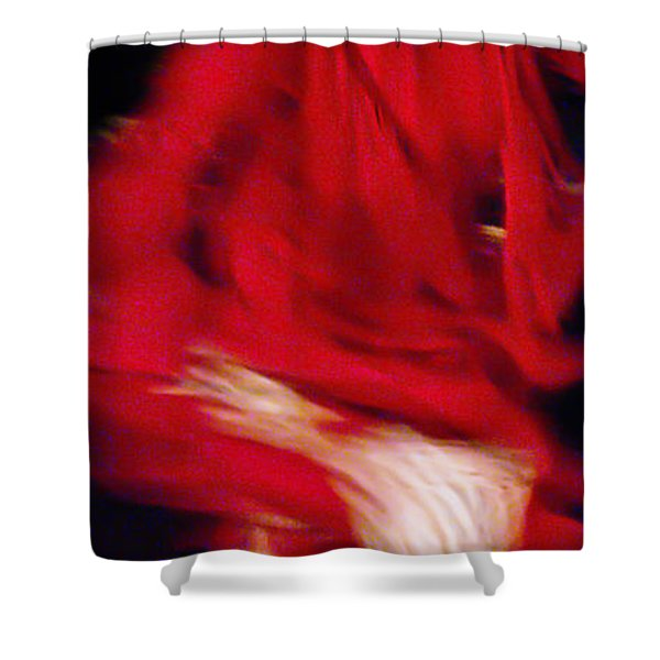 Shower Curtain featuring the photograph Flamenco Series 32 by Catherine Sobredo