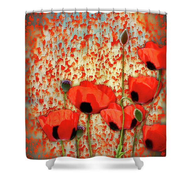 Flanders Fields Shower Curtain