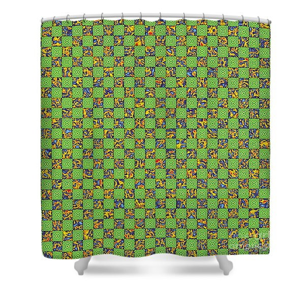 Flares, Squares And Ripples 3 Shower Curtain