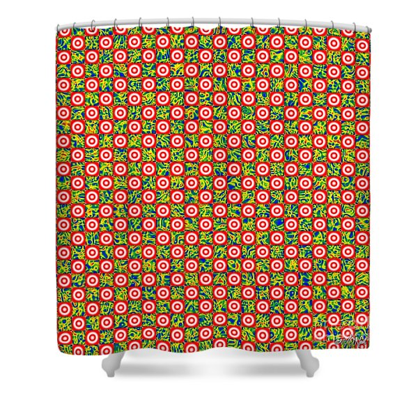 Flares, Squares And Ripples 1 Shower Curtain