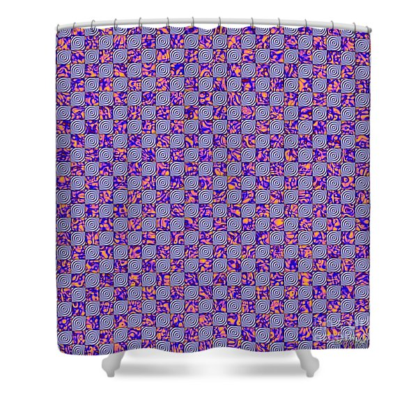 Flares, Squares And Ripples 4 Shower Curtain