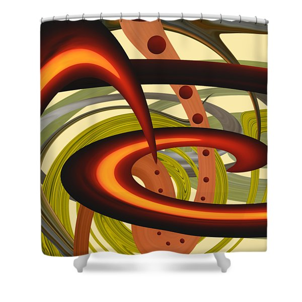 Flash Of Nature Shower Curtain